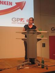 """Katharina Hanzal spricht zum Antrag """"Schulsozialarbeit"""""""