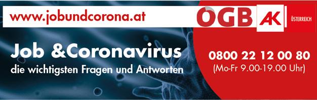 https://jobundcorona.at/ -ÖGB-AK-Sonderhomepage und Hotline zu Job und Coronavirus